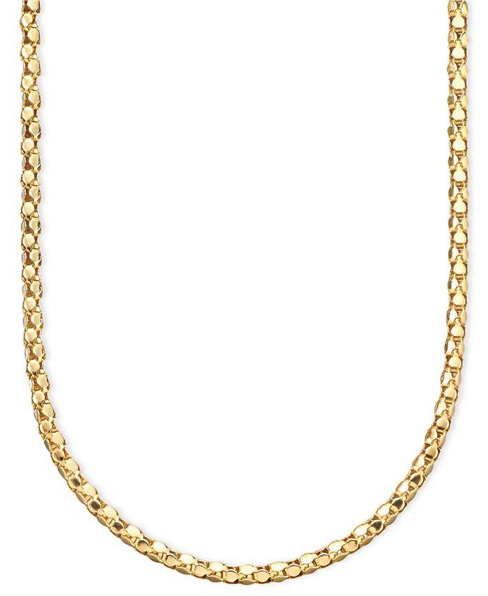Italian Gold - 14k Gold Diamond-Cut Popcorn Necklace