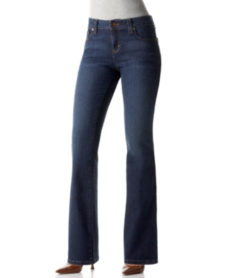 DKNY Petite Jeans, Stretch Soho Straight Leg, Downtown Blast Wash