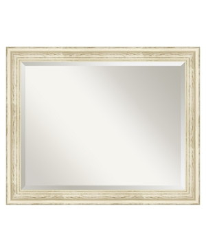 Amanti Art Country Whitewash Wall Mirror, Large