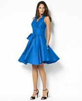 Lauren by Ralph Lauren Ruby Silk Dupioni Dress