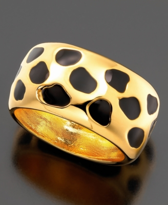 Kenneth Jay Lane Ring, Animal Print