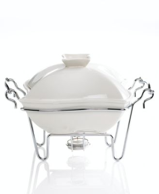 "Godinger ""Siena"" White Covered Baker, 1 Qt."