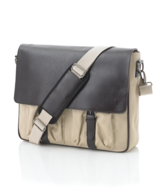Ben Sherman Bag, Mixed Media Canvas Messenger