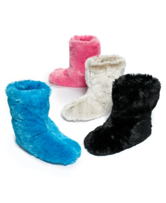 Charter Club Slippers, Lush Pile Slipper Boot - Charter Club