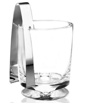 Nambe Barware, Groove Ice Bucket with Tongs