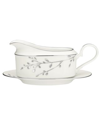 Noritake Serveware, Birchwood Gravy Boat with Tray