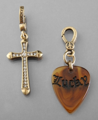 Lucky Brand Charms, Cross and Guitar Pick
