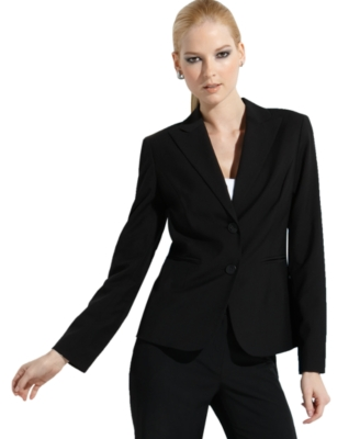 Jones New York Petite Blazer, Platinum Stretch Two Button