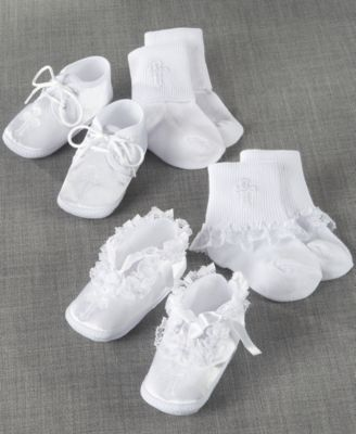Lauren Madison Baby Socks and Shoes, Boys or Girls Christening Set