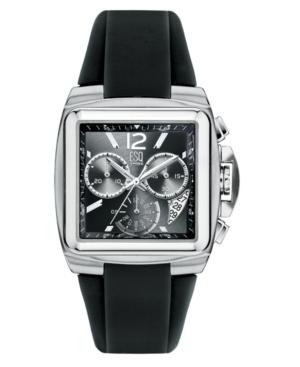 ESQ by Movado Watch, Men's Bracer Chronograph Black Rubber Strap 7301334
