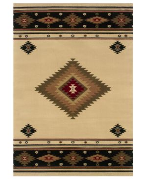 Oriental Weavers Area Rug, St. Lawrence 087I Tan/Black 7' 8