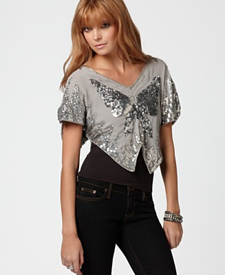 Free People Top, Iridescent Butterfly - Tops - Women's  - Macy's