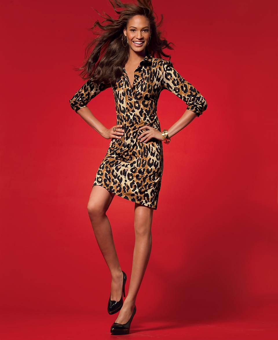 INC International Concepts Dress, Leopard Print