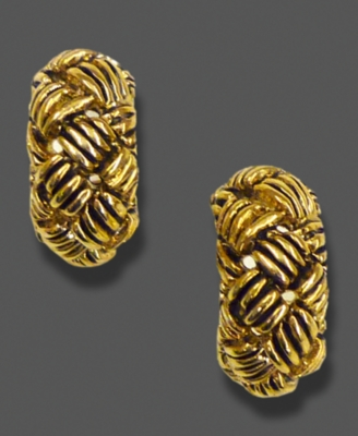 Etienne Aigner Earrings, Goldtone