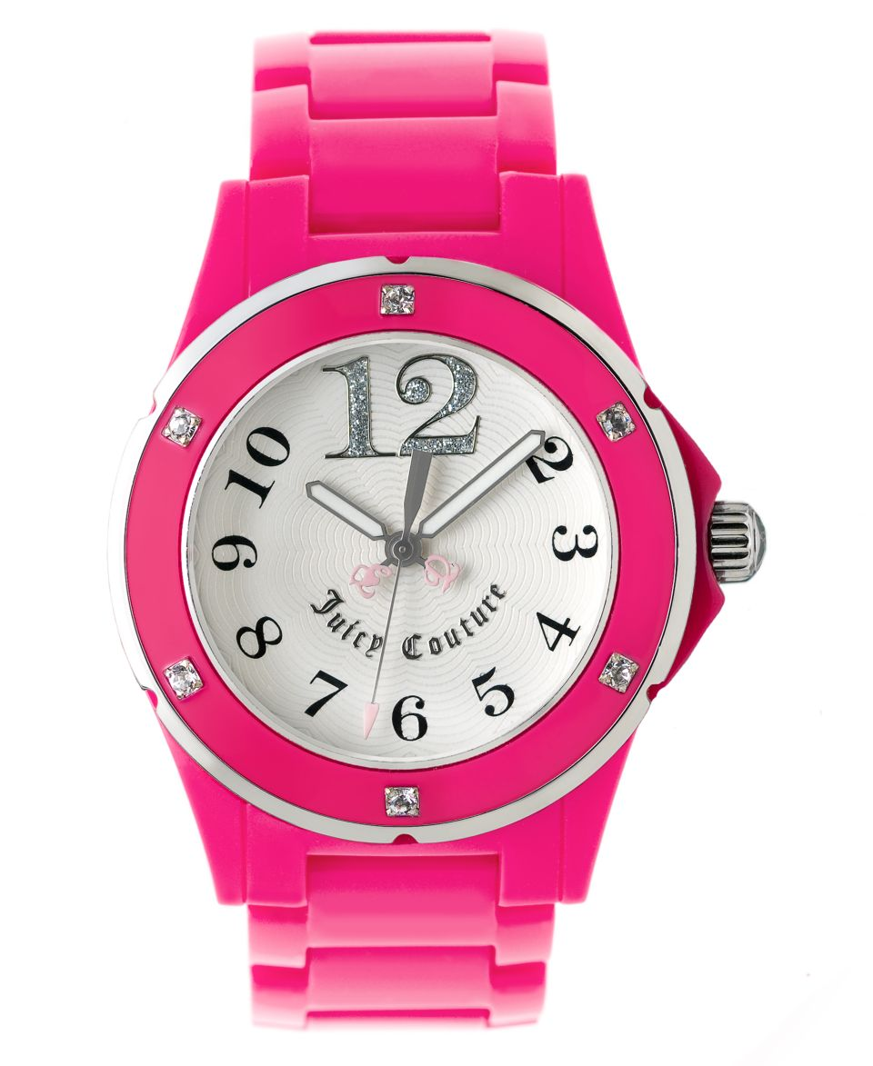 Juicy Couture Watch, Womens Hot Pink Plastic Bracelet 1900580   Watches   Jewelry & Watches