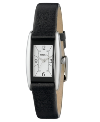 Fossil Watch, Women's Black Leather Strap ES2418