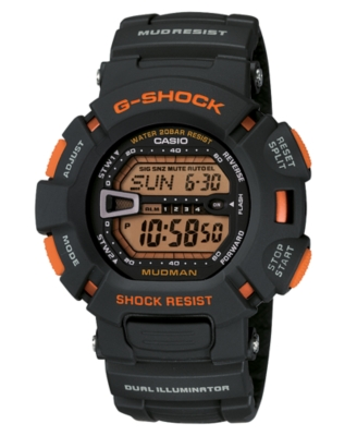 G-Shock Watch, Men's Black Resin Strap G9000MX-8