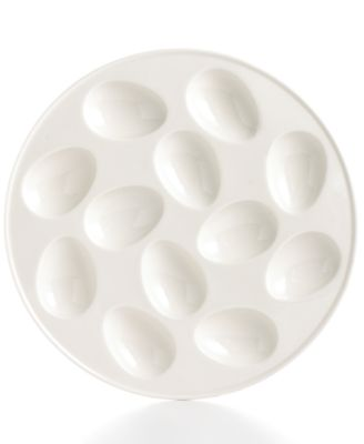 Martha Stewart Collection Whiteware Egg Plate