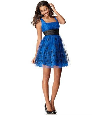 Roberta Dress, Sleeveless Emma with Caviar Beading - Dresses - Juniors  - Macy's
