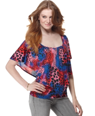 Miss Chievous Top, Scoopneck Animal Print