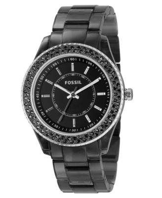 Fossil Watch, Women's Black Resin Strap ES2454
