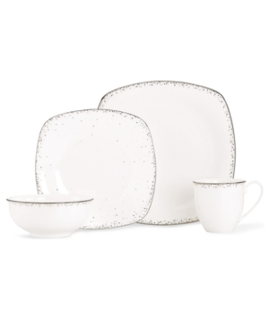 Lenox Lifestyle Dinnerware, Silver Mist Square 4 Piece Place Setting