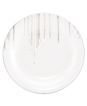 Lenox Lifestyle Dinnerware, Platinum Ice Accent Plate