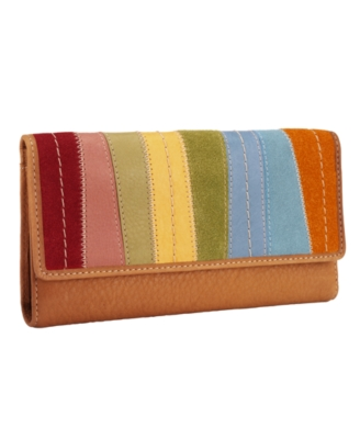 Fossil Wallet, Popstitch Patchwork Checkbook Clutch