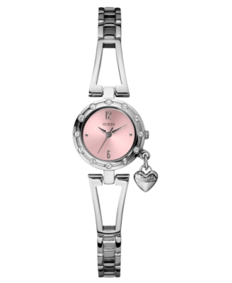 GUESS Watch, Women's Silvertone Bracelet U85098L2 - Sterling Bracelet Watch