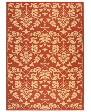 MANUFACTURER'S CLOSEOUT! Safavieh Indoor/Outdoor Area Rug, Courtyard CY3416 Red / Natural 4' x 5' 7""