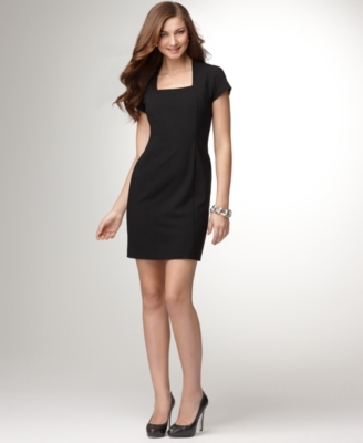 Alfani Dress, Shaper Short Sleeve Sheath