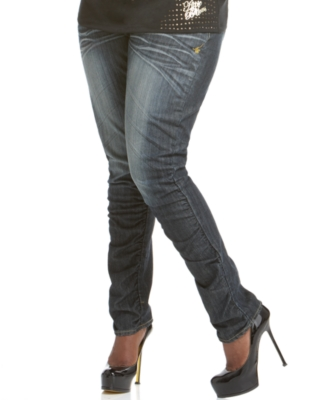 Apple Bottoms Plus Size Jeans, Nandi Skinny Ruched Leg Apple Pockets