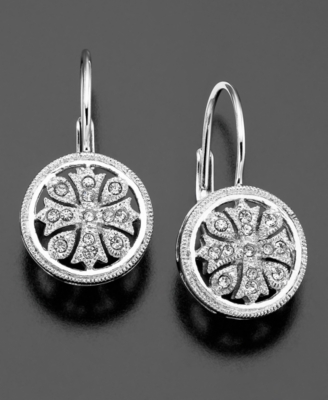 Eliot Danori Earrings, Flower Crystal