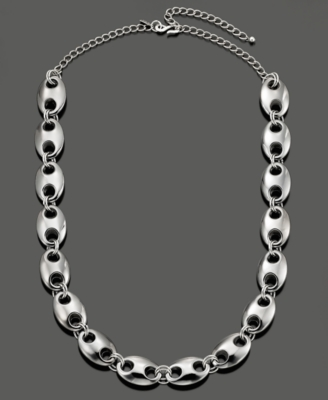 Kenneth Jay Lane Necklace, Polished Links - Sterling Necklaces