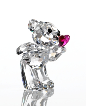 Swarovski Collectible Figurine, Kris Bear Blowing Kisses