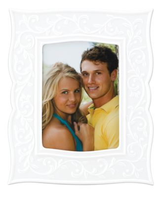 "Lenox Gifts, Opal Innocence Carved Picture Frame 5"" x 7"""