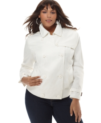 Sean John Plus Size Jacket, Twill Pea