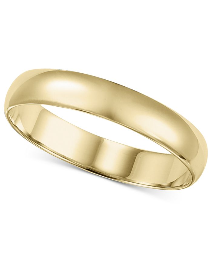 Macy's - 14k Gold Ring, 4mm Wedding Band