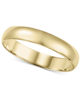 14k Gold Ring, 4 mm Band (Size 8.5-13)