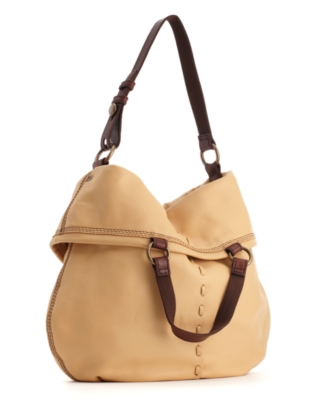 Lucky Brand Jeans Handbag, Bandit Leather Fold Over Hobo