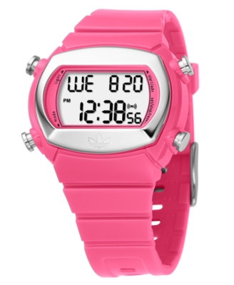 Adidas Watch, Women's Pink Polycarbonate Strap ADH6051 - Digital Watch