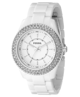 Fossil Watch, Women's White Resin Strap ES2444