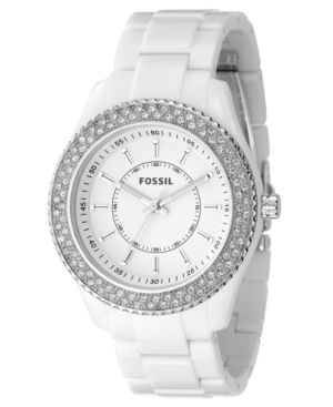 Fossil Watch, Women's Stella White Resin Strap 40mm ES2444