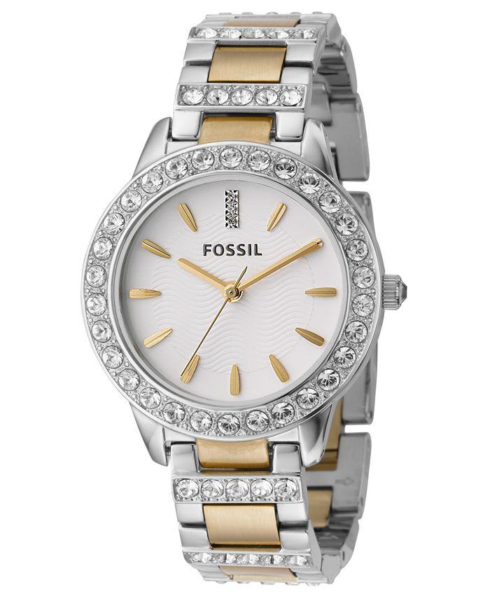 Fossil - Women's Jesse Two Tone Stainless Steel Bracelet Watch 34mm ES2409