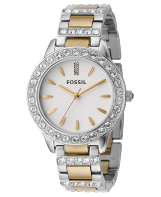 Fossil Watch, Watch, Women's Two-Tone Mixed Metal Bracelet ES2409