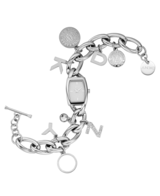 DKNY Watch, Women's Stainless Steel Charm Bracelet NY4830