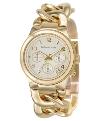 MICHAEL Michael Kors Watch, Women's Goldtone Ion-Plated Stainless Steel Bracelet MK3131