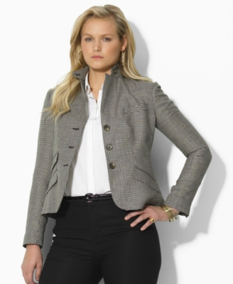 Lauren by Ralph Lauren Jacket, Dalz Three Button Houndstooth