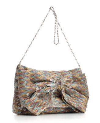 Betsey Johnson Handbag, Bow-tiful Sequin Oversized Clutch