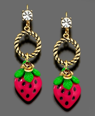 Betsey Johnson Earrings, Strawberry